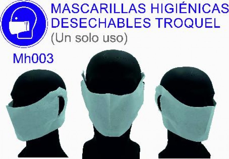 PAQ. DE 15 MASCARILLAS HIGIENICAS TROQUELADA NO SANITARIA