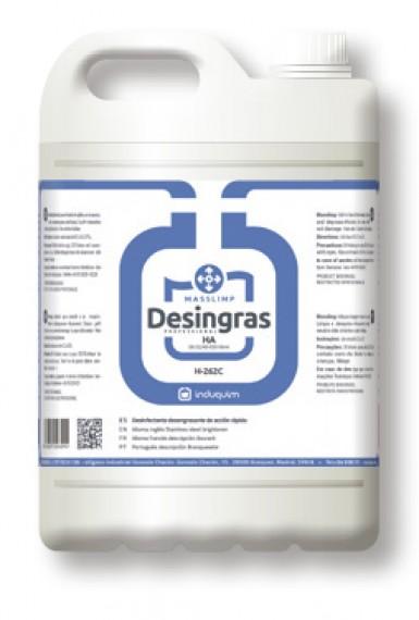 MASSLIMP DESINFECTANTE DESINGRAS H262. Garrada de 5 litros