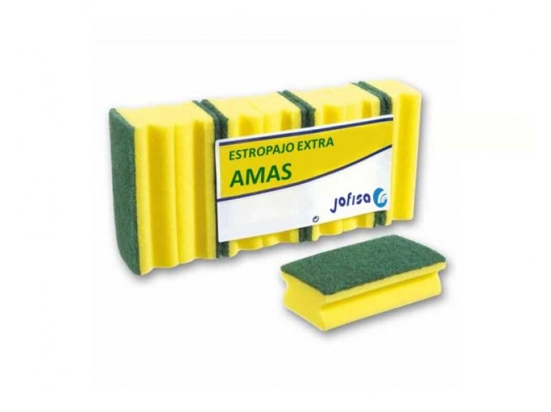 ESTROPAJO SALVAUÑAS INDUSTRIAL EXTRA AMAS. Paquete de 6 unidades.