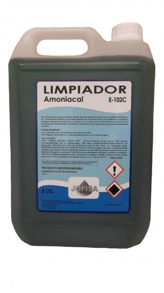 Garrafa de 05 Lts. de LIMPIADOR AMONIACAL PINOSAN